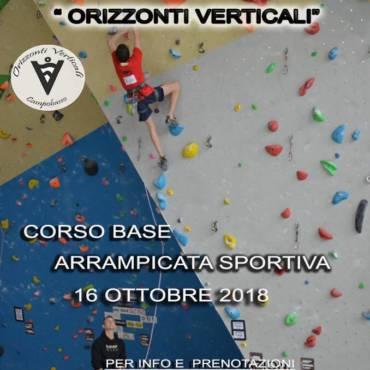 Corso base arrampicata sportiva Ottobre 2018